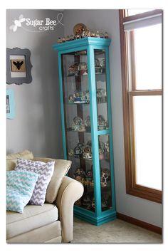 Sugar Bee Crafts: Curio Cabinet Redo