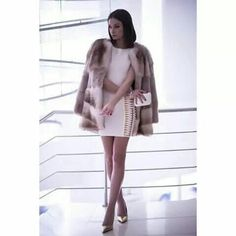 "See 14 photos and 3 tips from 244 visitors to Victoria ""Love Dior bags"" Dior, Fur Coat, High Neck Dress, Victoria, Dresses With Sleeves, Long Sleeve, Jackets, Fashion, Atelier"