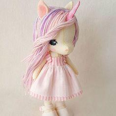 Li'l Luvs Unicorn pattern is now available in my Etsy shop!  #gingermelon #feltunicorn #feltdoll #dollmakers #doll #handembroidery #handmadedolls