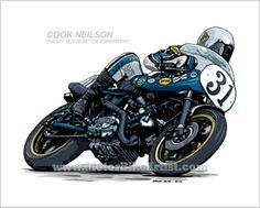 COOK NEILSON OLD BLUE DUCATI DAYTONA motorcycle art on Behance