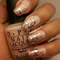 opi  bubble bath for the base, chinaglaze hello gorgeous , then added opi pink yet lavender and essie  a cut above.
