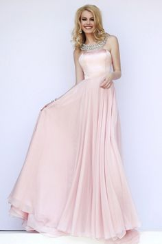 Lovely Halter A Line Satin and Chiffon Pink Prom Dress Senior Prom Dresses, Prom Dresses 2016, Sherri Hill Prom Dresses, Prom Dresses Blue, Cheap Prom Dresses, Formal Dresses, Sherri Hill Kleider, Pink Evening Dress, Prom Dresses Two Piece