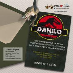 Convite Festa Jurassic Park Dinossauro para Imprimir