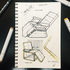 Couldn't find a theme worth rendering for this weeks #sketchwars finding a cohesive language from the chair to the arm rests was most challenging for me. Off to the Frog open studio in an hour!