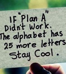 It's ok. We'll work on our own plan s B-Z on our own... Live our own lives... And that's it. Good luck.