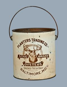 Stag Brand Oyster Tin - Baltimore , MD