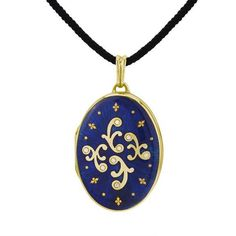 Faberge Lady's 18 Karat Yellow Gold Enameled Locket.  Come to mama.