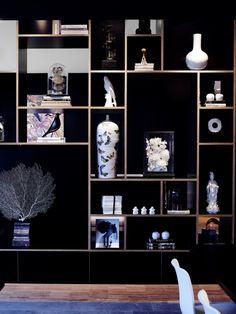 A Bold, Trendy Hotel in Rotterdam - Design Milk Shelf Design, Cabinet Design, Display Shelves, Shelving, Interior Styling, Interior Design, Luxury Interior, Retail Design, Interior Inspiration