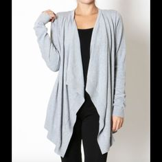 Grey Wrap Cardigan Super soft and cozy grey cardigan sweater! Available in S, M, & L  Sweaters Cardigans