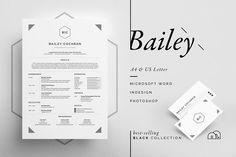 Resume/CV - Bailey by bilmaw creative on @creativemarket