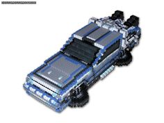 A 3-D Bead Sprite of the De Lorean from Back to the Future. This piece is a bit more complex than the A-Team van and General Lee 3-D Bead Sprites, and arguably my favorite of the three (except when...