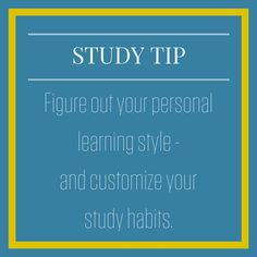 Knowing if you're a visual, auditory, or tactile learner can help you create a study plan that works for you!    Discover your learning style here: http://qoo.ly/ebdpc