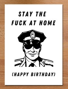 Stay The Fuck At Home Birthday Card, Funny, Lockdown Scavenger Hunt Birthday, 30th Birthday Cards, Sending Hugs, Retail Packaging, How To Apply, Superhero, Funny, Funny Parenting, Hilarious