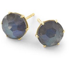 Ippolita 18k Rock Candy Medium Round Stud Earrings (1,325 CAD) ❤ liked on Polyvore featuring jewelry, earrings, gold, rock jewelry, stud earring set, ippolita, ippolita earrings y 18 karat gold earrings