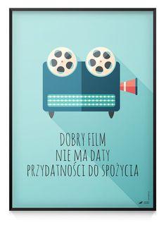 "Grafika / Plakat 70x50cm ""Dobry Film"" - wzorykolory - Plakaty typograficzne Movie Posters, Movies, Etsy, Art, 2016 Movies, Film Poster, Films, Popcorn Posters, Kunst"