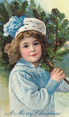 Leuke vintage Kerstkaart