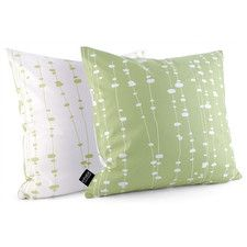 Estrella Pussy Willows Suede Throw Pillow