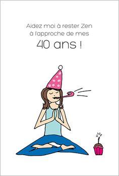 Carte d'invitation anniversaire : Yoga Yogi à personnaliser sur Popcarte.com. Position lotus, soyez cool !