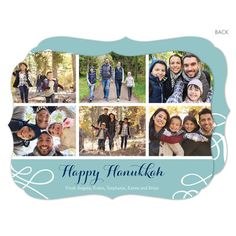 Lagoon Hanukkah Collage Photo Cards