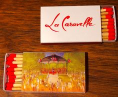La Caravelle NYC. BX3A 18 stick #matchbox - To order your business' own branded #matchbooks or #matchboxes GoTo: www.GetMatches.com or CALL 800.605.7331 Today!