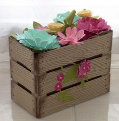 elizabeth's craft room: Flower Crate Gift Box