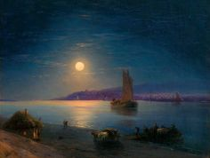 Moonlit Night on the Dnieper - Ivan Aivazovsky 1887
