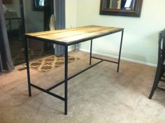 Industrial Style Bistro Table Standing Desk by EBergDesigns, $550.00