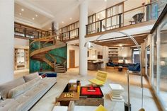 maisonette wohnung schickem design wohnzimmer