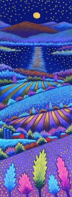 Daryl V. Storrs ~ Moonlit Lake