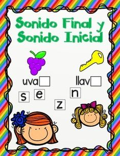 "Everything you need for a center is included: Task cards with awesome clip art and letter tiles. All you have to do is laminate , cut, and your center is ready. This sonido final center is a fun way to help students with that ""oh so hard to understand"" sonido final."