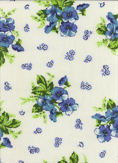 Vintage Sheet Fabric: Bu...
