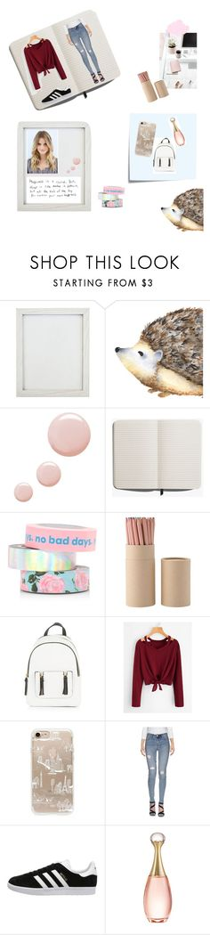 """""""Hello Fashion"""" by jerney-quotes ❤ liked on Polyvore featuring New View, Topshop, Shinola, ban.do, Post-It, New Look, Rifle Paper Co, Only Blu, adidas Originals and Christian Dior"""