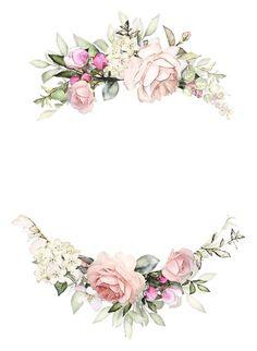 Floral Design set by LisimArt on Fond Design, Floral Design, Design Set, Flower Frame, Flower Art, Wedding Cards, Wedding Invitations, Invitation Background, Flower Background Wallpaper