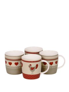 Home Bistro Bone China Set of 4 Mugs | very.co.uk