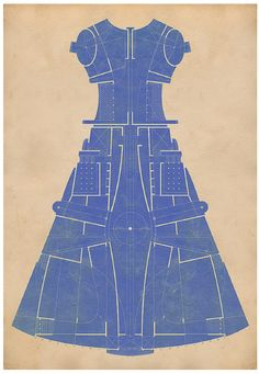 map dress - 001 - ultramarine - tracciamenti
