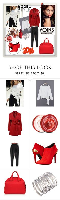 """YOINS 23"" by ramiza-rotic ❤ liked on Polyvore featuring The Body Shop, Bare Escentuals, Love Moschino and Givenchy"