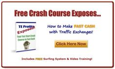 Clicking, Clicking, Clicking will not bring you anywhere. Learn how to use Traffic exchanges and earn free credits.  http://teprofits.com/CrashCourse/freesurfsystem.php?r=kimley