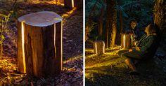 Legally Blind Artist Makes Cracked Log Lamps Bursting With Light   Bored Panda