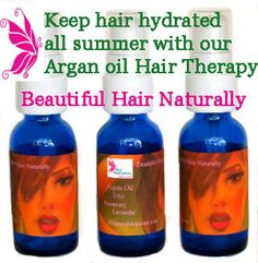 "Keep your hair hydrated from summer sun & surf with our ""Beautiful Hair Naturally"" made wit 100% Organic Argan Oil.....click to find out more. www.allnaturalskincare.com"