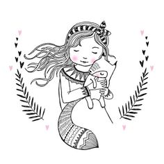 Marieke ten Berge - really sweet illustration of a girl Cute Drawings, Drawing Sketches, Little Girl Illustrations, Diy Y Manualidades, Drawing Letters, A4 Poster, Art And Illustration, Coloring Pages, Doodles