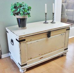 Home Frosting: Ikea Pine Chest Makeover I would love to do something s.,Home Frosting: Ikea Pine Chest Makeover I would love to do something similar with out hideous blanket chest. Though it's huuuuuuge. Refurbished Furniture, Repurposed Furniture, Shabby Chic Furniture, Furniture Makeover, Painted Furniture, Trunk Makeover, Ikea Makeover, Blanket Box Makeover, Armoire Makeover
