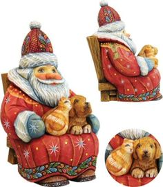23 G Debrekht Luv Ideas Santa Christmas Ornaments Santa Figurines