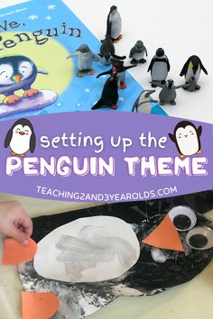 There are so many fun toddler and preschool penguin theme ideas! We not only made penguins, but we also explored them at the light table and the exploration table. We even had fun dancing like penguins! Free printables are included. #printables #winter #penguins #lessonplans #theme #curriculum #preschool #toddlers #classroom #homeschool #teachers #age2 #age3 #teaching2and3yearolds Up Theme, Theme Ideas, Toddler Preschool, Preschool Activities, Polar Animals, Penguin Art, Monthly Themes, Tot School, Winter Activities