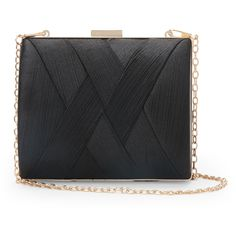 La Regale Black Woven Satin Minaudiere ($13) ❤ liked on Polyvore featuring bags, handbags, clutches, black, braided handbag, woven handbags, satin handbags, la regale purse and la regale