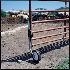 This Adjustable Gate Wheel keeps gates from sagging or dragging! All steel construction with a 10in. rubber wheel for rolling over rough terrain. Adjusts up to 24in. and locks into place. Fits steel and wood gates.