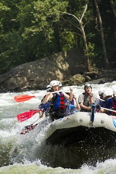 New River Gorge WV for white water rafting - note to self: stay in hotel after a day of rafting.