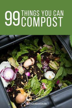 Anybody who has a composting bin or compost pile at their house knows that old apple cores banana peels and potato skins can be composted. The list of compostable items doesnt stop there in fact it barely scratches the surface. How To Start Composting, Composting At Home, Worm Composting, How To Compost, Garden Compost, Garden Soil, Vegetable Garden, Diy Compost Bin, Compost Tea