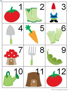 Toddler Activity - Spring/Gardening Theme Calendar/Counting/Countdown Cards