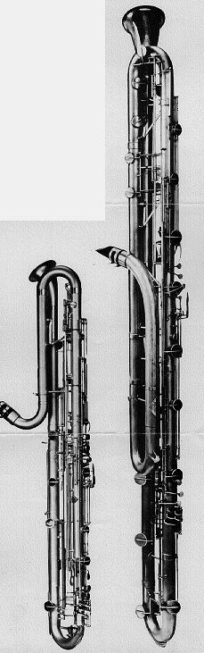 Contrabass and octocontrabass clarinets -  though they're bigger than me, I ROCKED these beasts