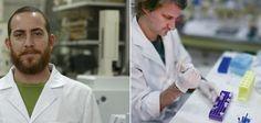 El ingeniero Alejandro Lucía y el biólogo Ariel Toloza, ambos investigadores del Cipein